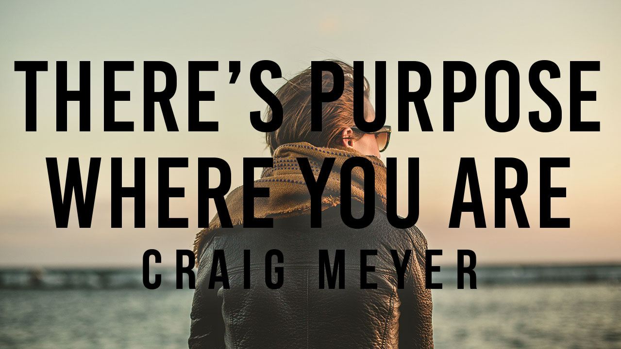There Is Purpose Where You Are