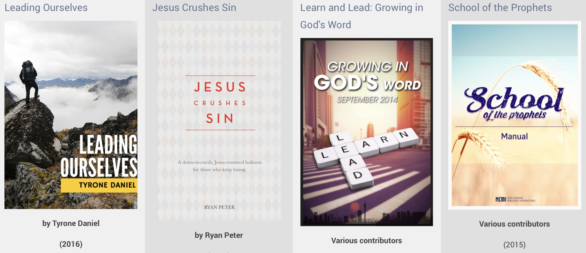 24 Amazing Free eBooks from NCMI leadership