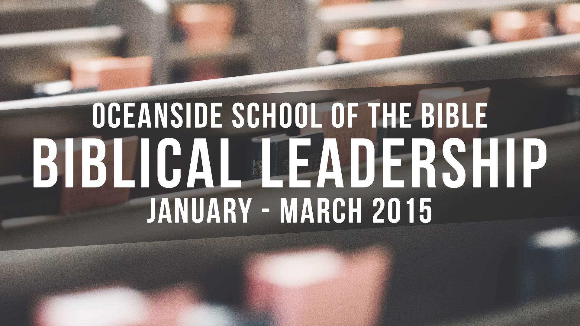 Biblical Leadership - 2015