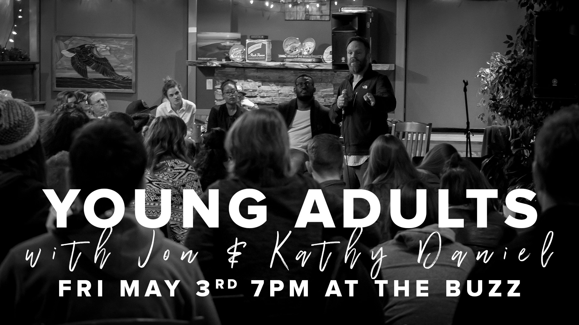 Young Adults at The Buzz w/ JD & Kathy